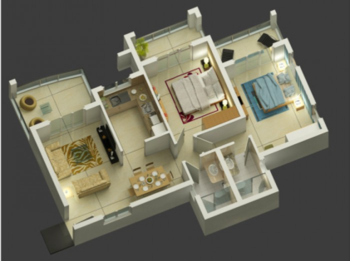 Ghar360 home design ideas photos and floor plans for 2 bhk flat drawing