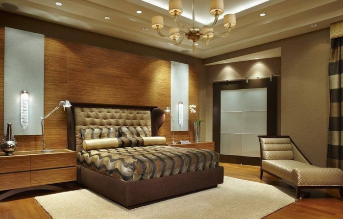Beautiful modern bedroom with awesome lighting design for Beautiful bedroom ceiling designs