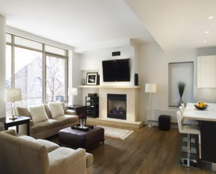 Trees fused with picture frames for Ideal living room furniture layout