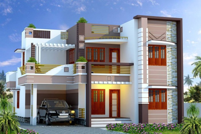 Simple and beautiful front elevation design for Main front house design
