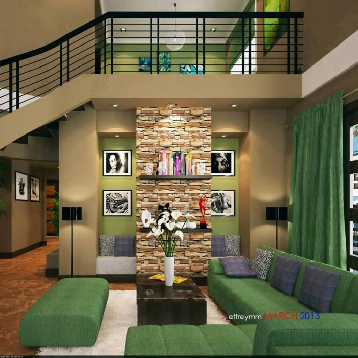 Mind blowing green interior - Mindblowing interior design for luxury homes ...