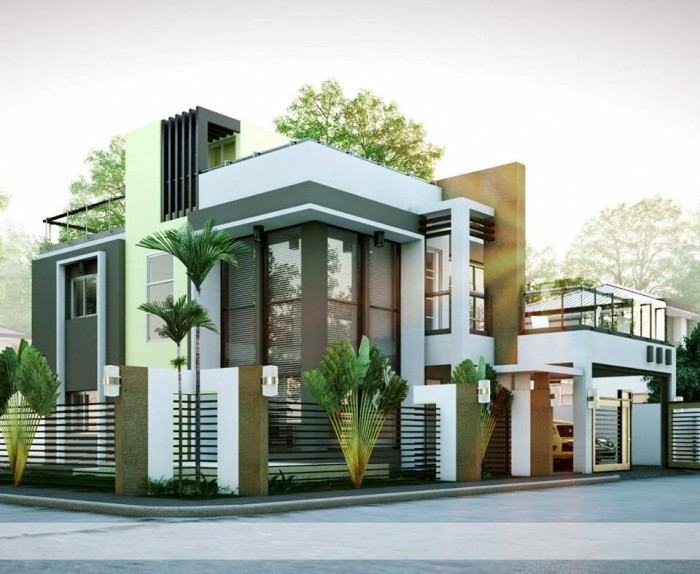 Mind Blowing Modern Residence Exterior Design Idea
