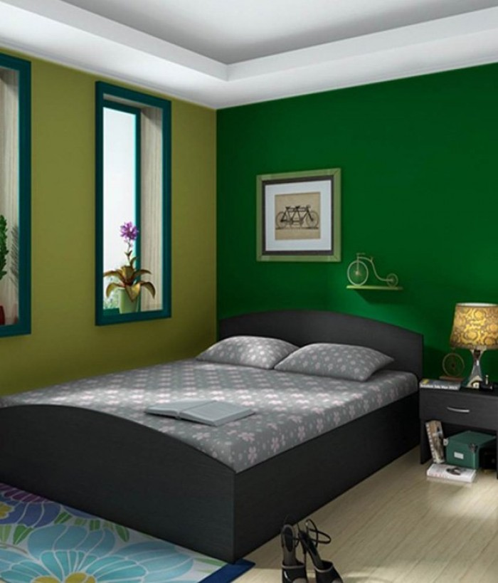 Simple bedroom design with queen size bed - Queen bed ideas for small room ...