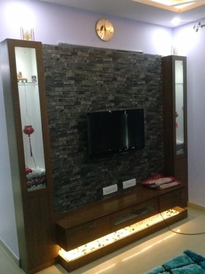 7 cool contemporary tv wall unit designs for your living room for Tv unit designs for living room