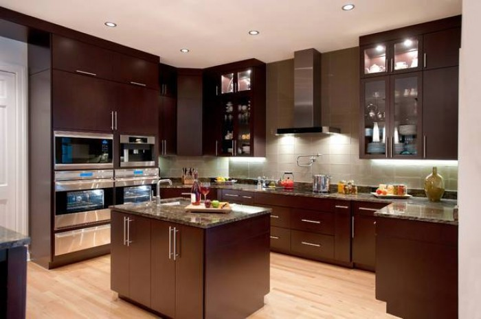 Dark Brown Kitchen Design