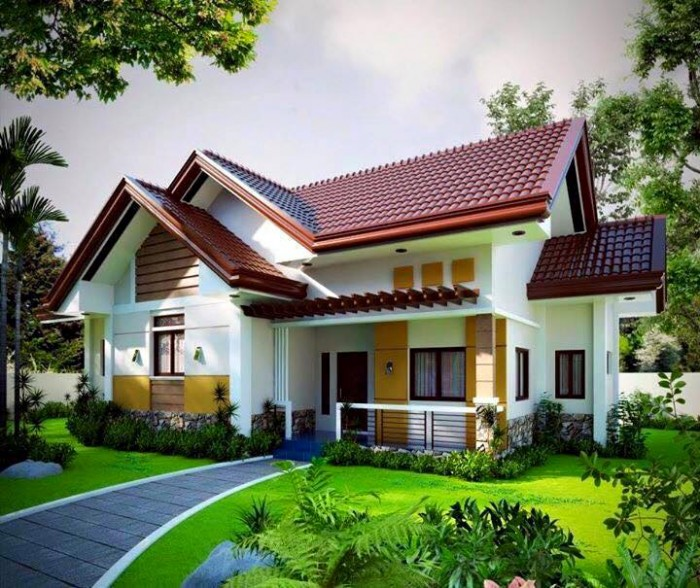 Stunning small house exterior design for Small house exterior design philippines