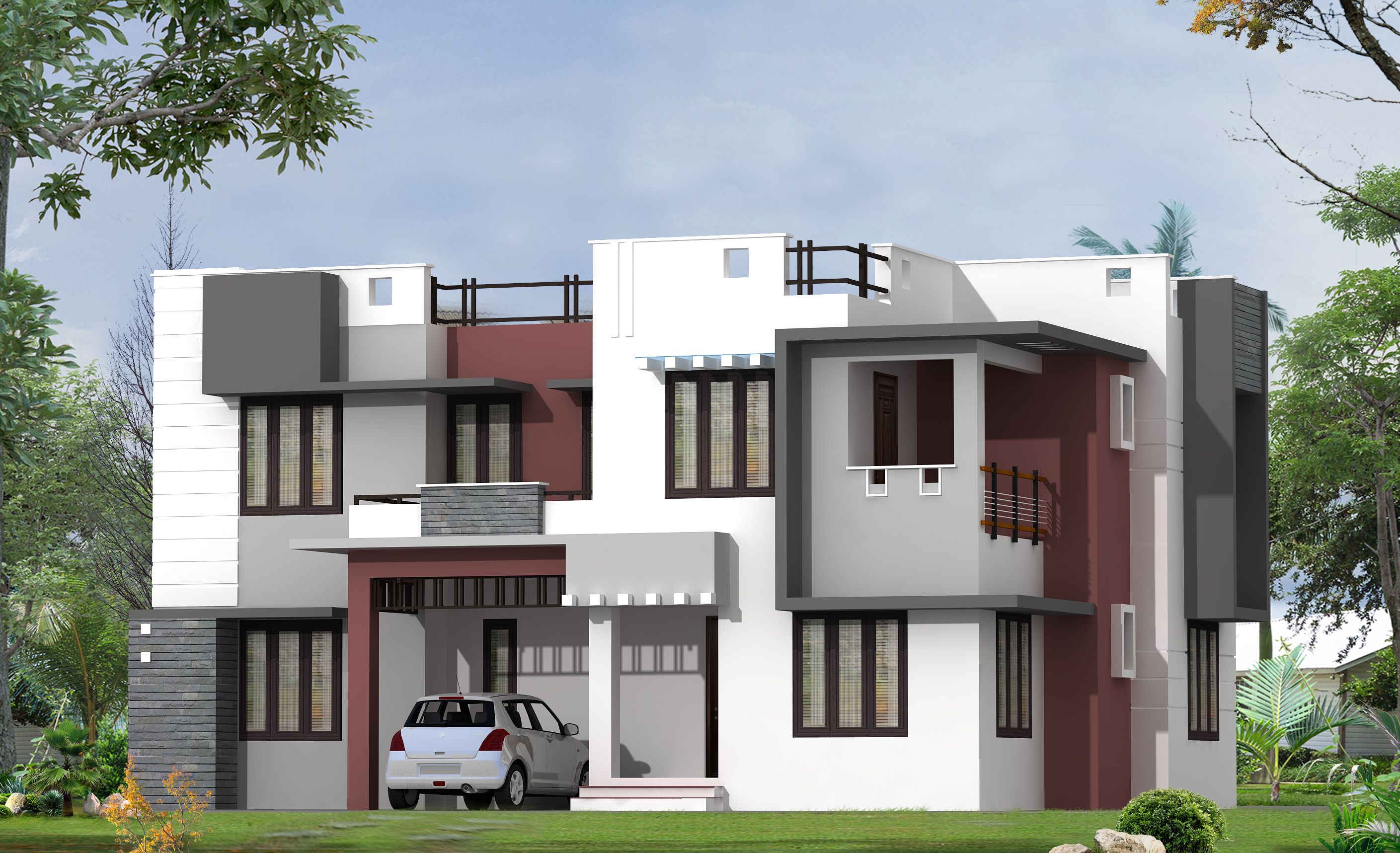 House Front Elevation Models Photos : Modern home design by greenline architects builders